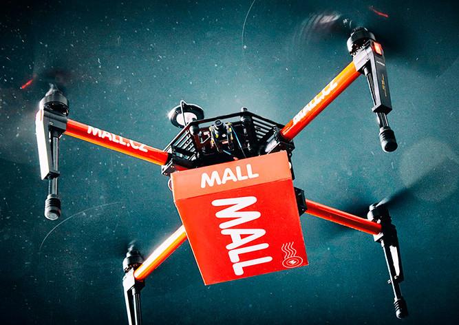 Будущее уже наступило: ВЧехии дрон выполнил доставку продукта
