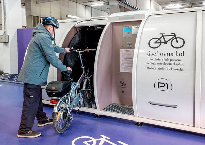 В Праге открыли вторую велопарковку с запираемыми боксами