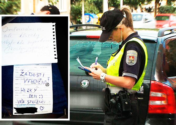 Записка от полицейских растрогала нарушительницу парковки в Праге