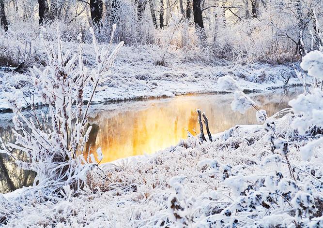 мороз-иней-снег-зима