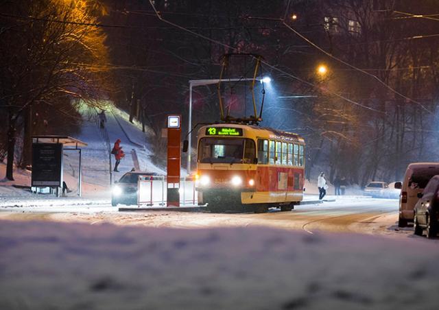 Ночные трамваи в Праге хотят отменить