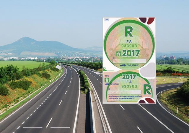 В Чехии начались продажи годовых дорожных виньеток на 2017 год