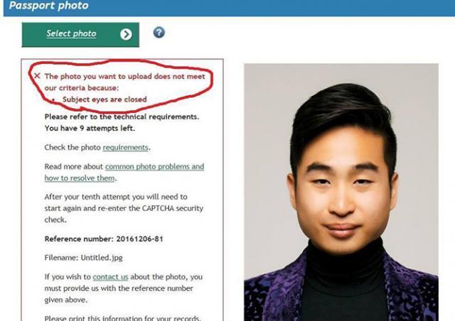 «Робот-расист» не принял фото новозеландца из-за узких глаз