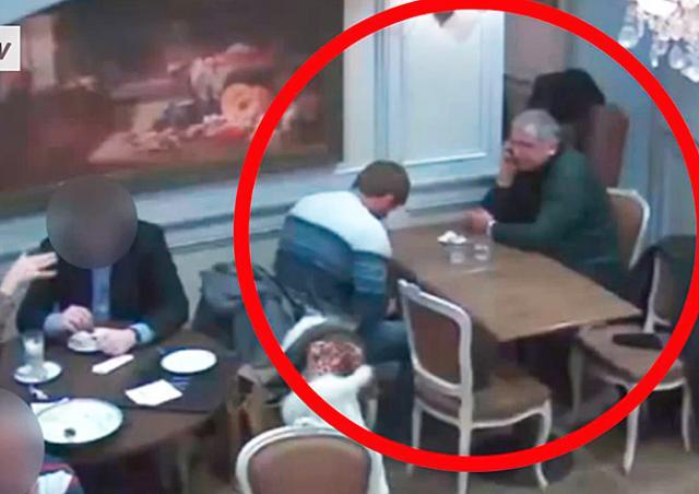 Дерзкая кража в пражском кафе попала на видео