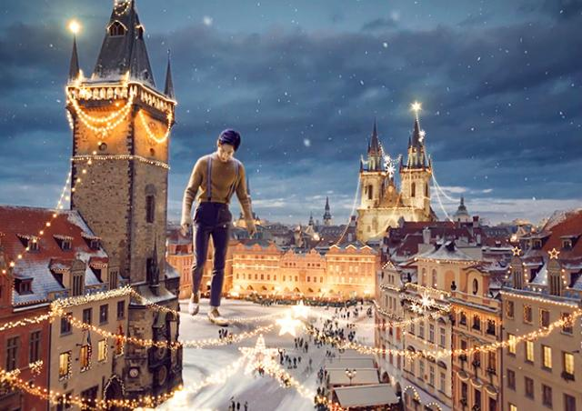 Видео: в Праге сняли сказочную рекламу о любви и великанах