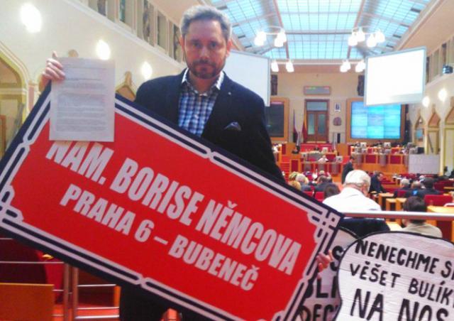 Площадь перед посольством РФ в Праге предложили назвать в честь Бориса Немцова