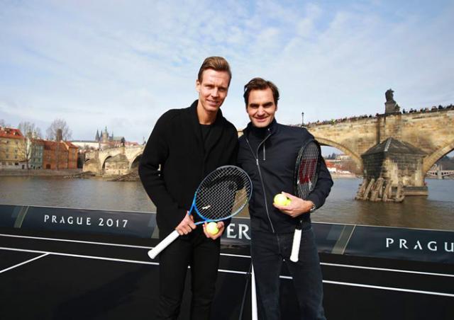В Прагу прибыл Роджер Федерер