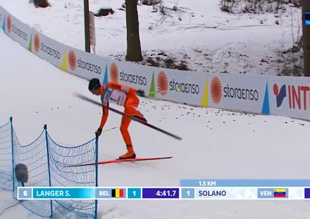Лыжник из Венесуэлы рассмешил зрителей на чемпионате мира